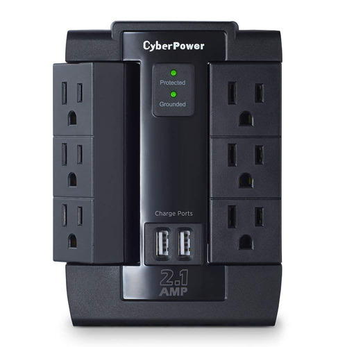 Cyberpower Csp600wsu Professional 1200 Joules Dual Usb 2.1a