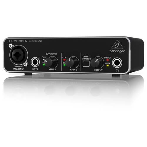 Behringer Umc22 Interface De Audio Usb 2x2 Envio Gratis