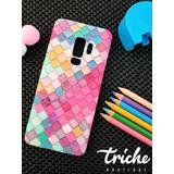 Funda Case Mosaico Colores Sirena Dama Galaxy S9 Plus S9+