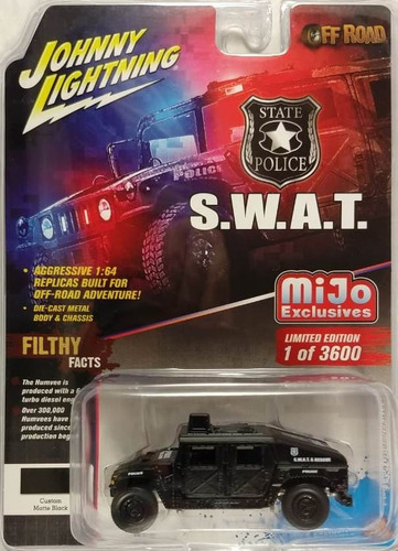 Johnny Lightning Mijo Exclusives - Police S.w.a.t. Humvee