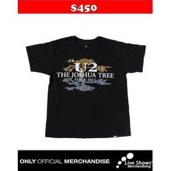 Playera Oficial U2 TOUR BLACK TEE