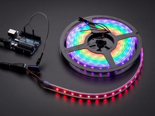 Neopixel Tira De Leds Rgb Ws2812 De 60 Led Por Metro Arduino