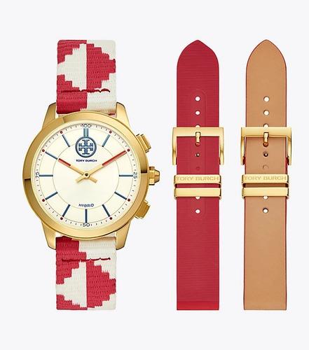 Tory Burch Reloj Híbrido The Collins Red  * Envio Gratis*