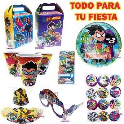 Jovenes Titanes Teen Titans Go Platos Dulcero Todo Fiesta