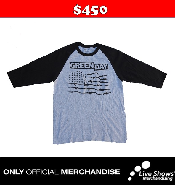 Playera oficial GREEN DAY RANGLA