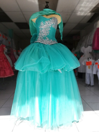 Imagenes de vestidos de xv color verde menta