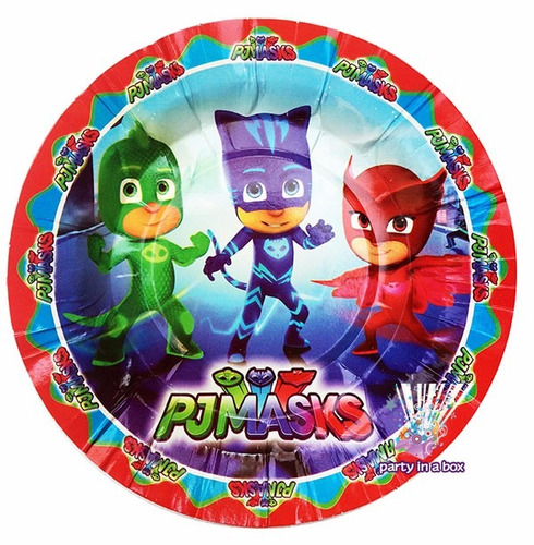46f3ab9baa ... comprar Pj Masks Platos Dulceros Vasos Globos Fiesta Héroes Pijamas ...