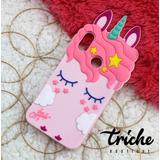 Funda Botarga Unicornio Pestañas Rosa Xiaomi Mi A2 Lite