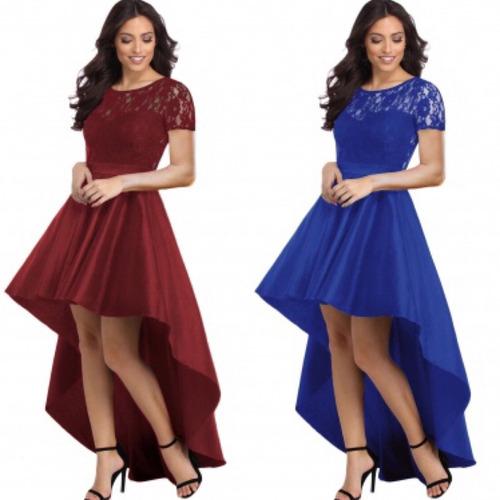 Imagenes de vestidos largos color azul rey