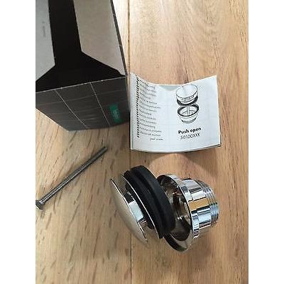 Desague p lavabo sin rebosadero cromo 30104618 hansgrohe for Desague bidet