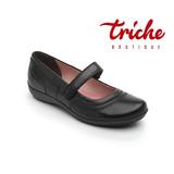 Calzado Zapato Dama Escolar Negro Flexi 17225 Confort Piel