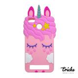 Funda Botarga Diseño Unicornio Pestañas Rosa Xiaomi Redmi 5a