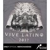 Playera oficial Vive Latino 2017 Color Gris