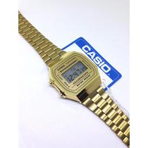 9c9e5a110d19 Comprar Reloj A168 Gold Dorado Clásico Moda Retro Funda Dama Hombre