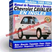 CHEVROLET CAVALIER VAUXHALL 1988-1994 (ingles)