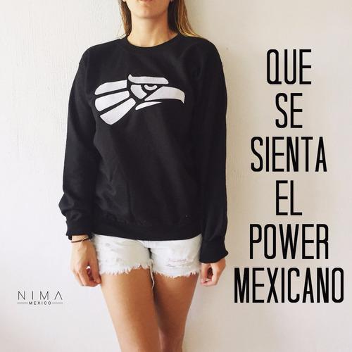 Sudadera Negra Hombre Con Logo Hecho En Mexico