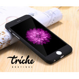 Funda Color Negro con Cristal para iPhone 6 iPhone 6s
