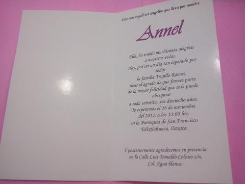 Ejemplos De Tarjetas De Invitacion De 15 Anos