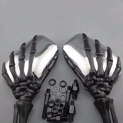 Espejos para moto forma de esqueleto met licos cromados for Precio de espejos