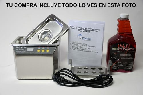 Tina Ultrasonica Profesional Con Charola De 8 Inyectores