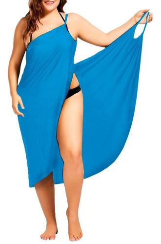 f9826c020049 4xl 5xl Vestido Envolvente Playero Licra Dryfit Pareo Playa en venta ...