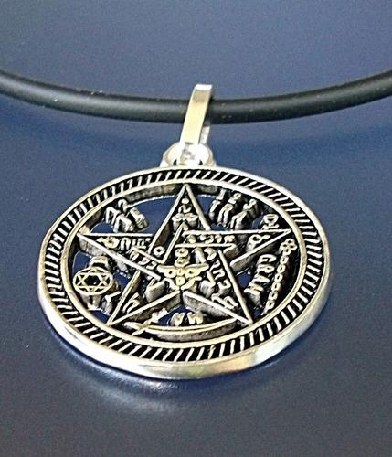 Dije De Tetragramaton Pentagrama En Plata Ley.925