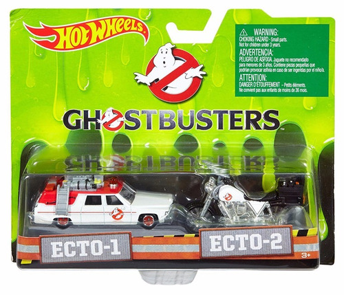 Hot Wheels Ghostbusters Ecto-1 Ecto-2 1:64 Diecast Retro Pop