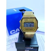 Busca reloj casio dama vintage dorado 1572 a168 mini envio