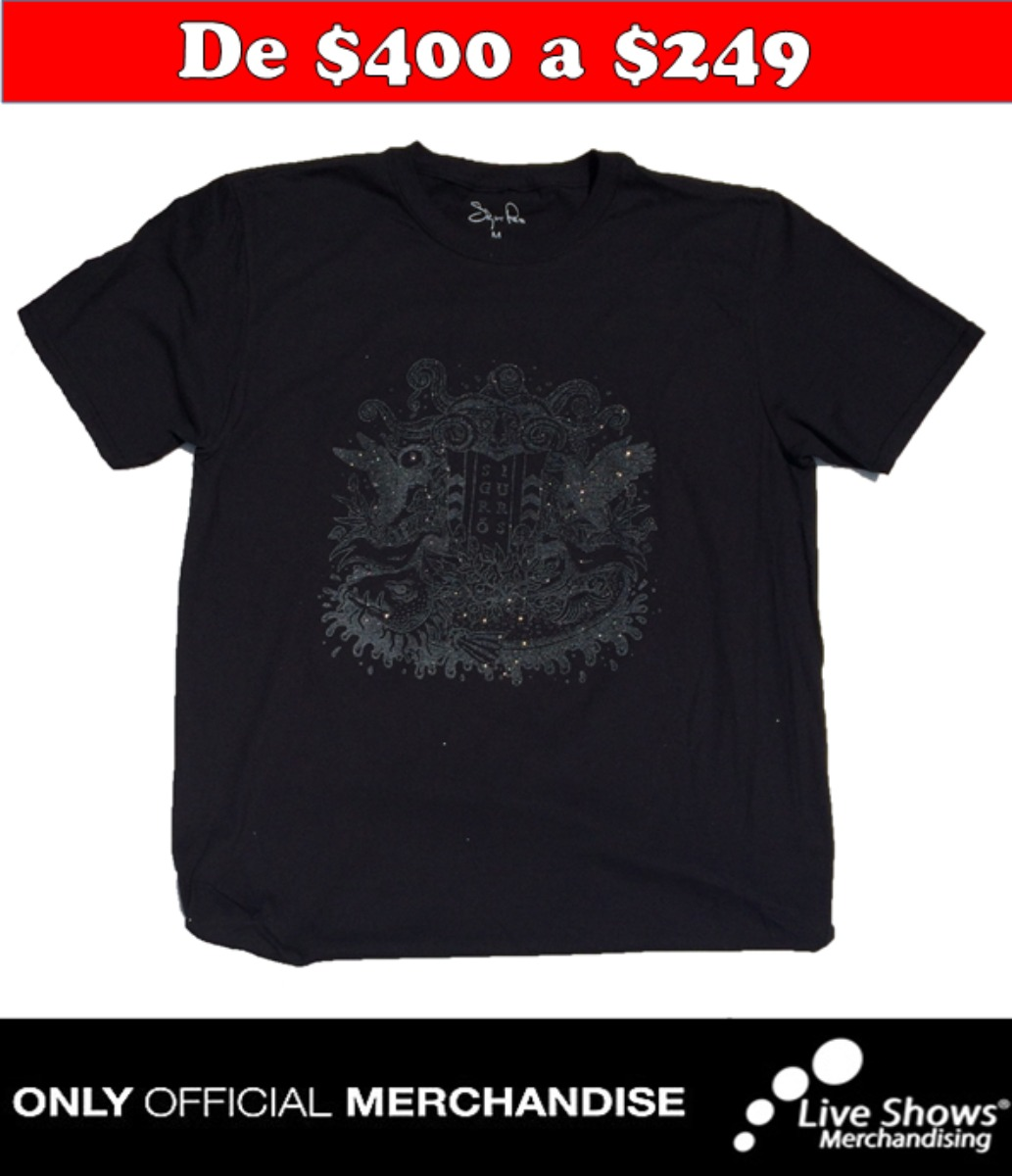 Playera Oficial SIGUR ROS LORD JONES BLACK TEE