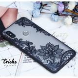 Funda Case Flor Loto Dama Negro Vintage Xiaomi Mi A2 Lite