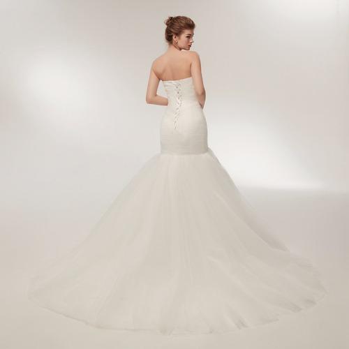 b6148622f ... comprar Vestido De Novia Cola De Sirena Ajustable Liso Envio Gratis ...