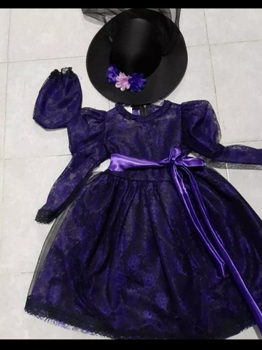 Vestido Catrina Muerte Alta Costura Sombrero Envio En