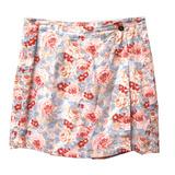 Falda short flores