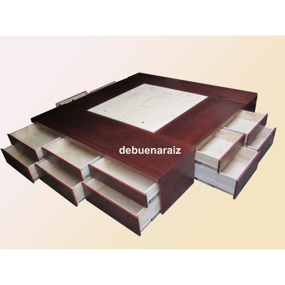 Base cama beta2 king size recamara minimalista cajones for Cuanto cuesta una cama king size