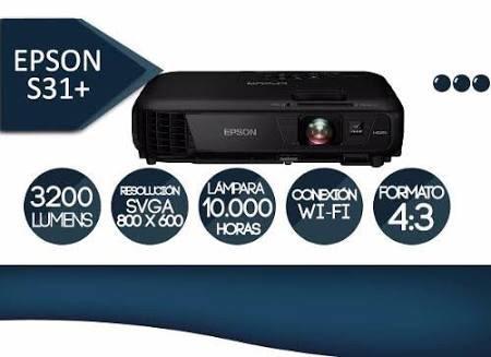 Video Proyector Epson Modelo S31+ 3200 Lumenes