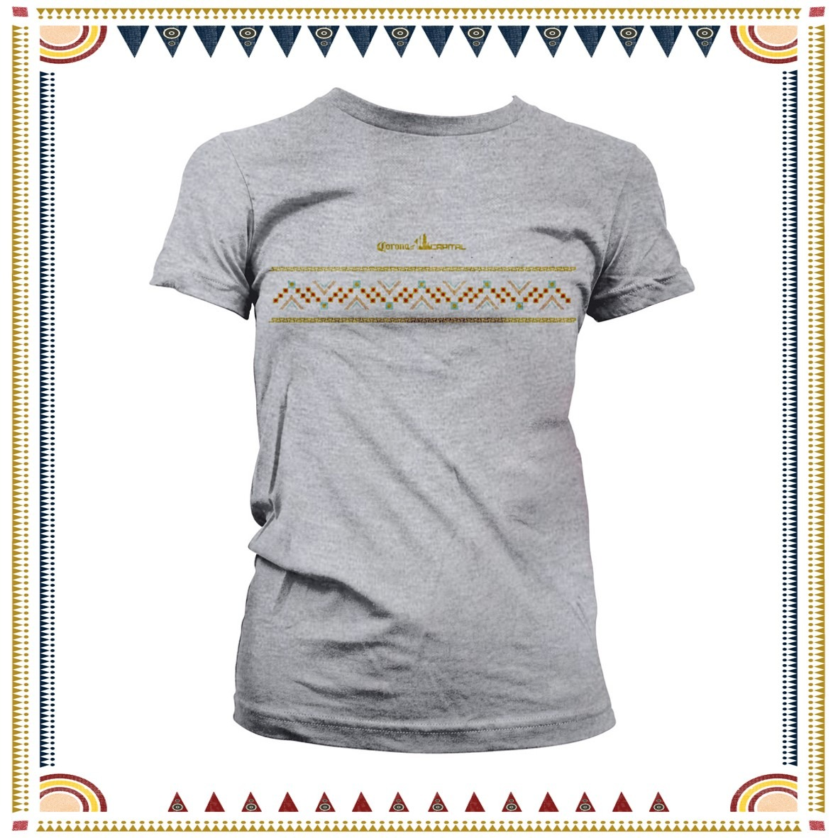 PLAYERA ECO-FRIENDLY GRIS PARA MUJER #CC2018