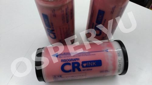 Tinta Color Rojo Para Duplicadora Riso Cr1610ui