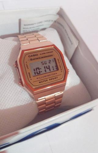 7ee070ba3971 Reloj Casio Rosa A168 Retro Cobre Vintage Rose Gold en venta en ...