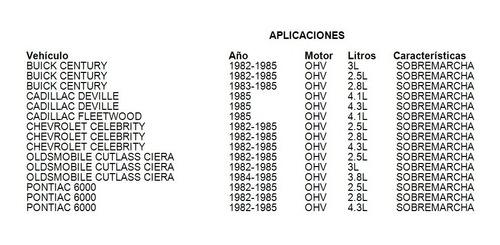 Chicote Sobremarcha Pontiac 6000 1984 2.5l Cahsa Foto 2