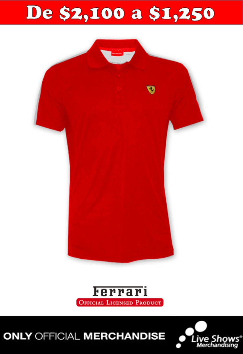 FERRARI SPORT POLO RED