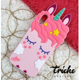 Funda Botarga Unicornio Pestañas Rosa iPhone X iPhone Xs