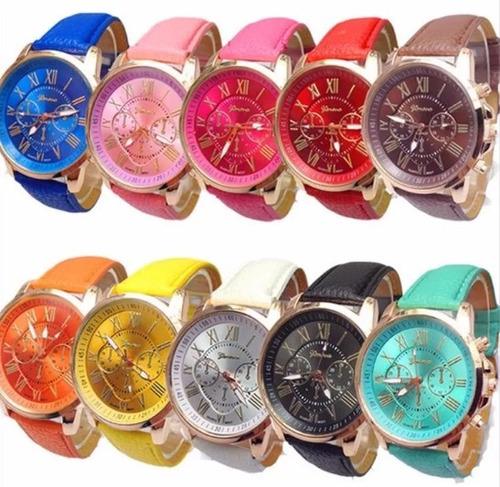 Promocion Lote 10 Reloj Relojes Geneva Oferta Alta Calidad