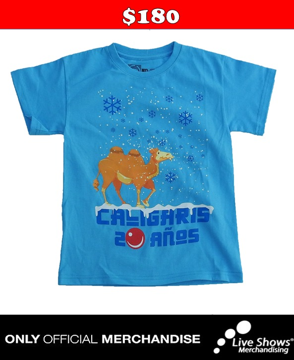 Playera Oficial LOS CALIGARIS PARA NIÑOS BLUE TEE