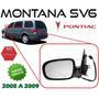 05-09 Pontiac Montana Sv6 Espejo Electrico Desempañante Izq.