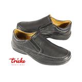 Calzado Caballero Negro Flexi 71602 Casual Confort Mocasín