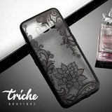 Funda Case Flor Loto Negro Vintage Galaxy S8 Triche