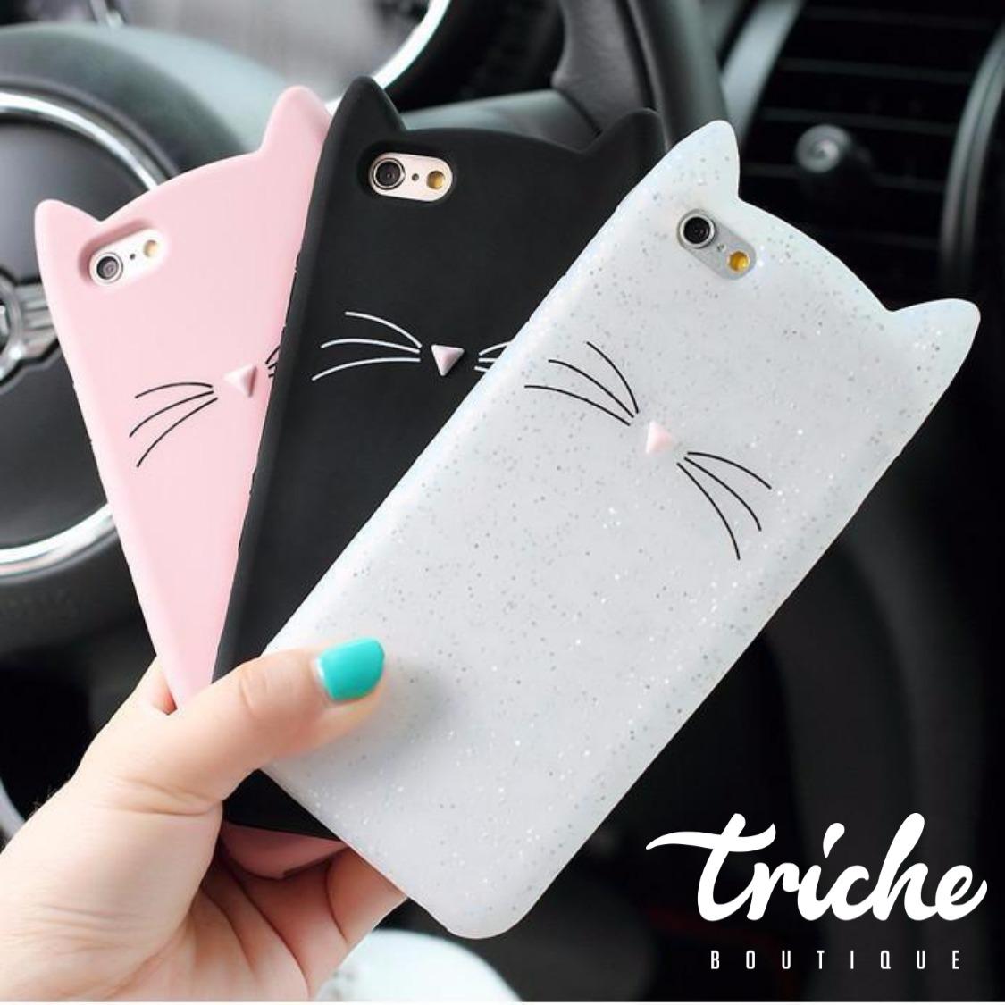 4b8f3a613a1 Funda Gato Bigotes iPhone 5 5s SE 6 6+ 7 7+ 8+ X XS Max XR | Triche