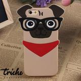 Funda Botarga Pug Lentes Perro iPhone 6 Plus iPhone 6s Plus