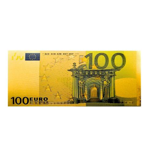 Paquete De 100 Billetes Dorados 100 Euros - Incluye Envío