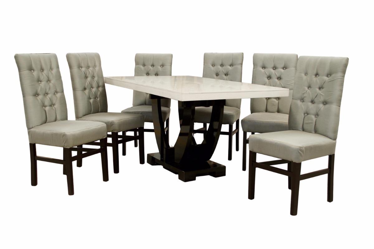 Comedor ventura fabou muebles moderno 6 sillas for Muebles modernos sillas